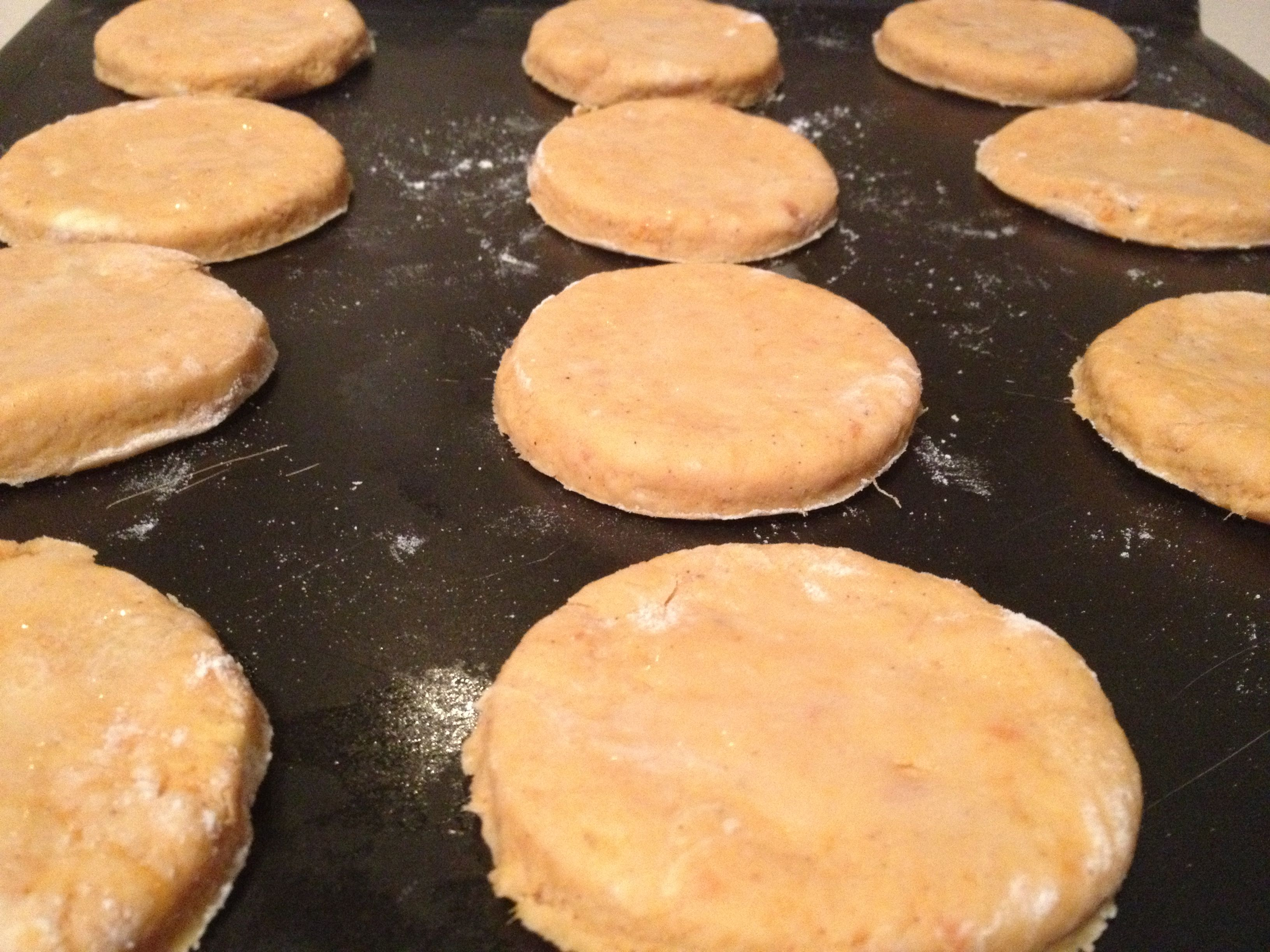 biscuits placed
