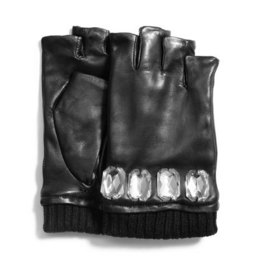 michael kors fingerless leather gloves