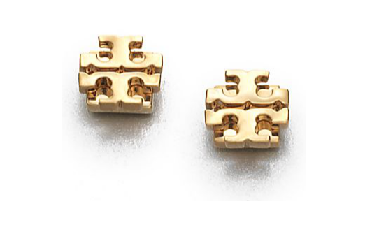 tory-burch-goldtone-logo-stud-earring