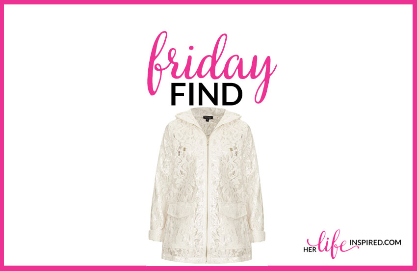Friday Find Lace Raincoat