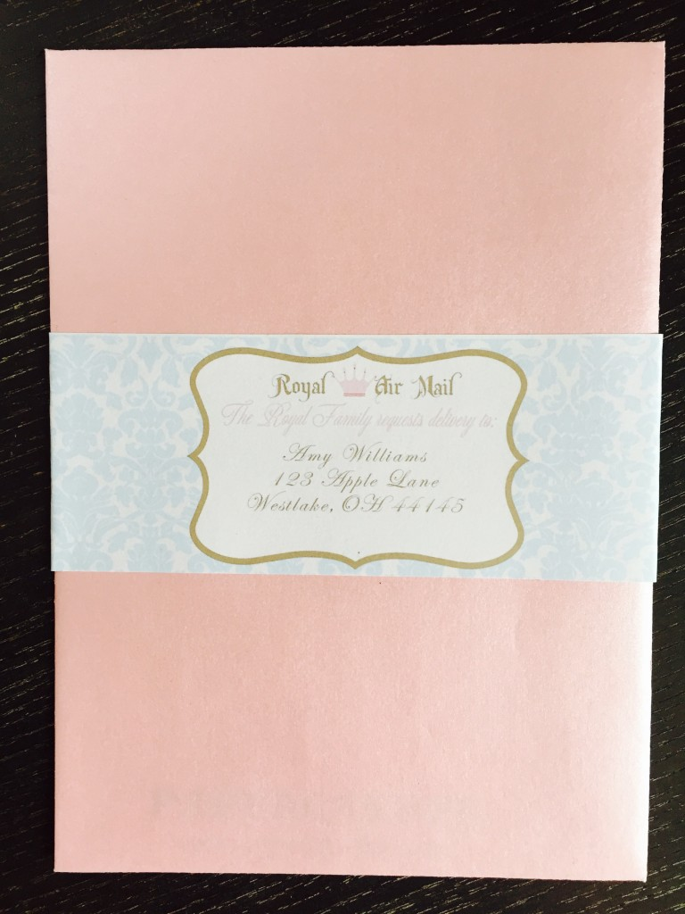 Custom envelope label