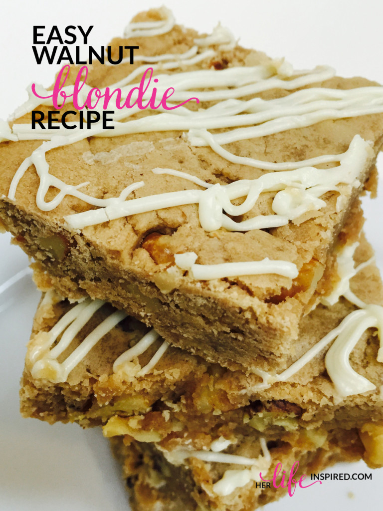 Easy Walnut Blondie Recipe
