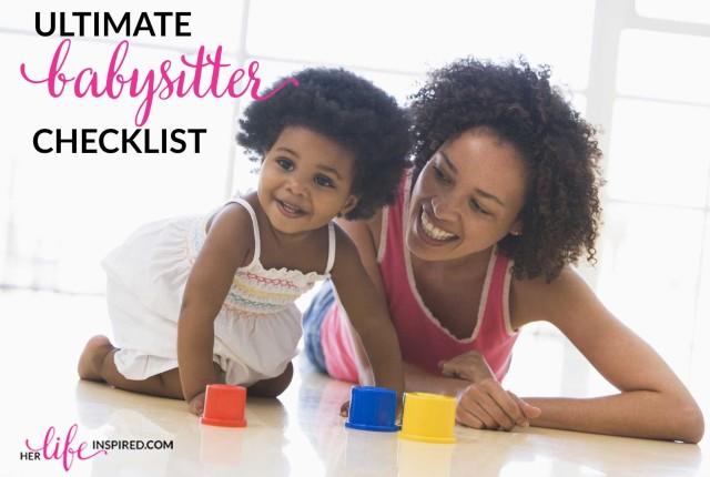 babysitter checklist, childcare, parenting